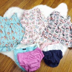 Lot bundle 6 to 12 month baby girl dresses